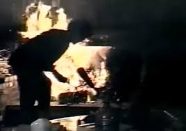 hunter s thompson sets his christmas tree on fire nearly burns