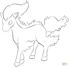 ponyta coloring page free printable coloring pages