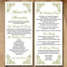 Vintage Wedding Programs Best Wedding Ceremony Program Templates Products On Wanelo