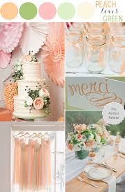 Color Combinations With Orange by Color Story Peach Loves Green The Perfect Palette