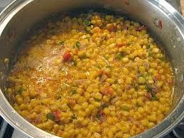 food lust maque choux spicy cajun corn