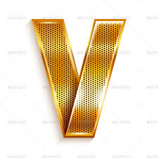 metallic gold ribbon alphabet folded from a metallic gold ribbon by ecelop