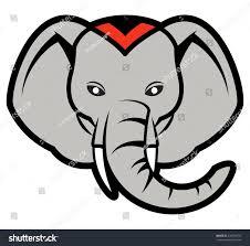 cartoon elephant head eps10 stock vector 236924797 shutterstock