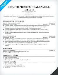 Occupational Therapy Resume Template Sample Resume For Occupational Therapist Sample Occupational