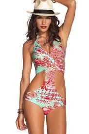 designer monokini colorful print designer monokini swimsuit swimsuits