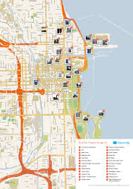 Chicago Marathon Map Free Printable Map Of Chicago Attractions Free Tourist Maps