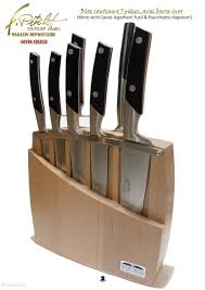 bloc de couteaux de cuisine 26 bloc hêtre inox 7p coutellerie pitelet à thiers