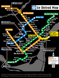 Map Of Montreal I U0027m On The Montreal Metro Anagram Map The Adventures Of