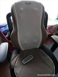 homedics triple shiatsu massage cushion review u0026 giveaway game