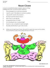 first grade grammar worksheets include parts of speech and