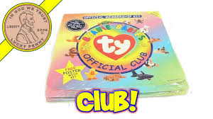 ty beanie babies official 1st edition membership club kit