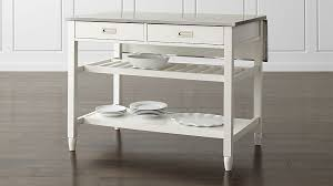 white kitchen islands white kitchen island crate and barrel