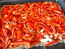 poivron cuisine pizza aux poivrons rouges et oignon recette de cuisine alcaline