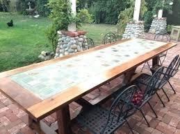 ceramic tile top patio table ceramic tile top dining table outdoor ceramic table best tile top