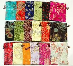 pretty happy birthday gift bags wholesale silk brocade printed