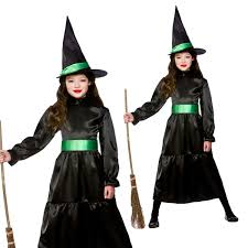 wicked witch costume girls witch zombie bride vampiress gothic ghost halloween fancy