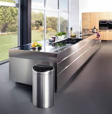 metal island kitchen 50 modern kitchens are equipped with cooking island fresh design pedia