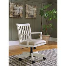 Wood Office Desk Solid Wood Home Office Desk Chair In Cream Finish By Signature
