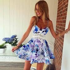 beautiful backless floral summer mini beach dress beach dresses