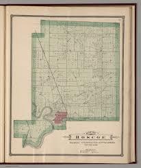 Illinois Township Map by Roscoe Township Winnebago County Illinois David Rumsey