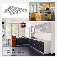 modern kitchen cabinet hardware 8 4 5 inch modern kitchen cabinet hardware brushed nickel j14bss224