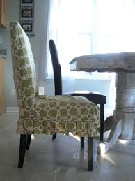 Linen Slipcovered Dining Chairs Slip Covers Dining Room Chairs