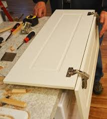 Installing Pie Cut Hinged Doors For Lazy Susan Corner Cabinet - Lazy susan kitchen cabinet hinges