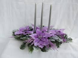 lavender poinsettia christmas centerpiece christmas