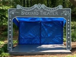 Backyard Theater Ideas Our Diy Kids Backyard Theater Emily A Clark Photo With Marvellous