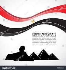 Cairo Flag Egypt Flag Wave Giza Pyramid Great Stock Vector 334803776