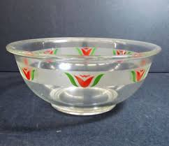 Corelle Dishes Walmart Pyrex Mixing Bowl With Red Tulip Decoration Pyrex
