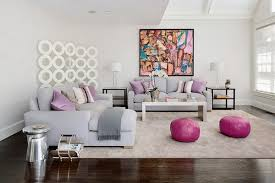Purple And Grey Sofa Set Living Room Fuchsia Leather Pouf Ottoman Living Room With Living