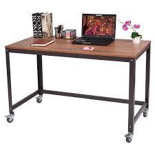 Metal Computer Desk Metal Frame Computer Desk With Wheels Desks Office Furniture