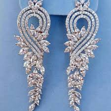 chandelier wedding earrings shop cz chandelier earrings bridal on wanelo