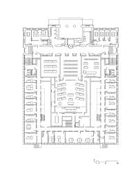 Municipal Hall Floor Plan by Leslie Martin Colin St John Wilson Et Al Harvey Court