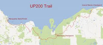 Map Of Upper Michigan by Up200 The Upper Peninsula Sled Dog Association Up 200