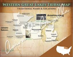 Western Us Map United States Western Great Lakes Tribal Map U2013 North American