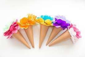 tissue paper flowers make tissue paper cone flowers