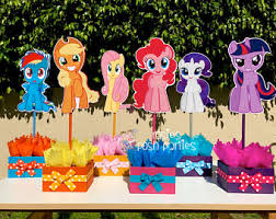 My Little Pony Party Centerpieces by My Little Pony Birthday Party Centerpiece Favors Guest Table