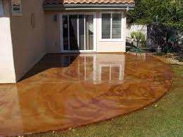 stained concrete patio ideas beautiful colors stained concrete