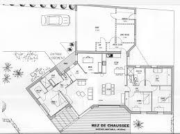 plan maison plain pied en l 4 chambres plan de maison 4 chambres plain pied gratuit plan de
