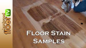 hardwood floor stain color samples youtube