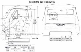 1953 ford truck parts 1953 driverized cab dimensions stude 55 ford