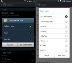 android default font how to change font on android device appslova