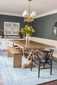 Farm Table With Bench And Chairs Modern Farmhouse Dining Table U0026 Benches Erin Spain