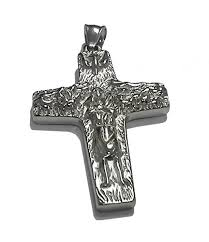 crucifix pendant necklace images Stainless steel papa pope francis pectoral cross crucifix pendant jpg