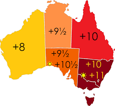 Map Of Us Time Zones by Time In Australia Wikipedia