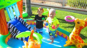Intex Inflatable Pool Intex Inflatable Animal Zoo Pool Toy Youtube