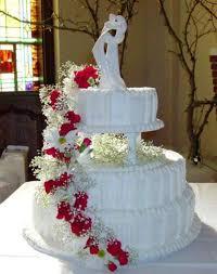 teal and white wedding cake
