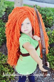 wigs for kids halloween funky polkadot giraffe wiggin u0027 out princess merida costume wig